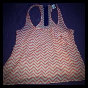 Sheer chevron tank top